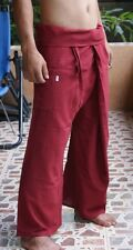 Thai Fisherman Trousers Pants Yoga Samurai Kung Fu Tai Chi Boho Maternity Red