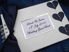 PERSONALISED HEART WEDDING GUEST BOOK / ALBUM BIRTHDAY~ANY COLOUR **BOXED**