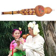 Chinese Hulusi Gourd cucurbitacées Flûte C clé Yunnan Case Instrument ethnique