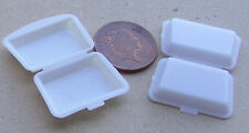 1:12 Scale 2 Small Plastic Take Away Boxes Dolls House Miniature Food Accessory
