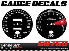 Honda CB750 Bobber Cafe Racer Gauge Face Decal Overlay Speedometer Tach Applique