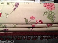 roman blind Laura Ashley summer palace cranberry made to measure interlined