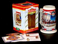 Vintage 2001 BUDWEISER CLYDESDALE Holiday STONEWARE STEIN Beer Mug CERAMARTE