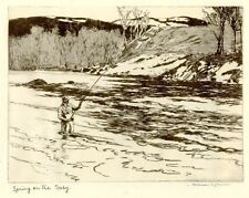 Spring on the Spey Norman Wilkinson 1930 fishing print