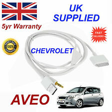 Chevrolet Aveo ox0467904 3gs 4 4s Iphone Ipod Usb & Aux Audio Cable Blanco