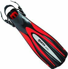Mares EXCEL + Open Heel Scuba Diving Dive Fins - RED - SIZE XS - CLOSE OUT
