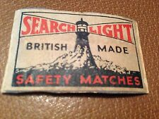old match box top - search light british made