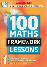 100 New Maths Framework Lessons for Year 1 by Ann Montague-Smith (Mixed media...