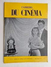 CAHIERS du CINEMA n° 18  ( decembre 1952 )