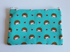Cute Hedgehog Fabric Handmade Zippy Coin Purse Storage Pouch