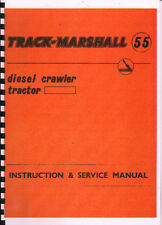 """Track-Marshall """"55"""" Crawler Tractor Instruction & Service Manual Book"""