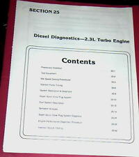 1985 86 FORD RANGER 2.3L TURBO DIESEL DIAGNOSTICS TROUBLESHOOTING MITSUBISHI