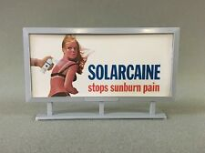 Vintage 027 O Scale Train Billboard SOLARCAINE Outdoor Advertising Sign