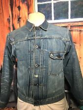 LEVIS 1930S SELVEDGE DENIM 1 PKT 555 VALENCIA CINCHBACK PLEATED FRONT LVC JACKET