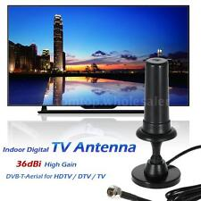 Digital 1080p Indoor Digital TV Antenna 36dBi High Gain VHF UHF DVB-T Aerial New
