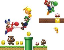 Super Mario Kids room PVC Art Quote Wall Stickers Wall Decals Wallpaper decor