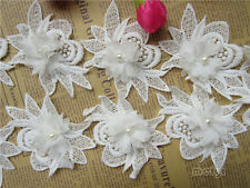 5pcs Vintage Fringe Chiffon Pearl Lace Edge Trim Tassel Ribbon DIY Sewing Crafts