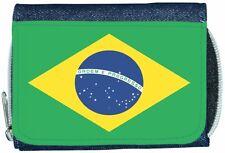 Brazil Flag Denim Wallet