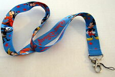 Disney Blue MICKEY MOUSE Trading Pin Lanyard Cell Phone Key, ID Badge Attachment