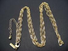 """$16 Freedom at Topshop 3-Strand Dainty Twisted Chains Necklace Goldtone 35"""" Long"""