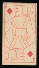 1888 N233 Kinney TRANPARENT PLAYING CARDS (53) -Jack (J) Diamonds -Girl Image