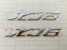 Raised 3D Chrome Yamaha XJ6 2009-2013 Emblem Silver Decal Fairing Sticker Bling