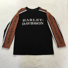 HARLEY DAVIDSON 105TH ANNIVERSARY Colorblock Knit Long Sleeve Shirt Size M