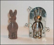 Bunny Rabbit Classic Stainless Steel Candy Chocolate Mold with Clips $15 Retail