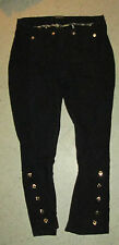 ROBERTO CAVALLI Jodhpurs Leggings Jeggings Denim Style Pants BLACK ITALY XS