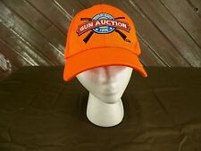 Gun Auction Baseball Cap 1998 Orange Hat Adjustable Strap One Size