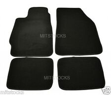 FIT FOR 1988-1991 HONDA CRX BLACK NYLON CARPET FLOOR MATS 4 PIECES