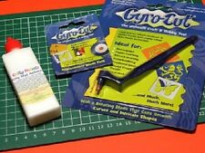 GYRO-CUT Craft Tool, 2 spare blades, Sticky Mat Adhesive & FREE A4 cutting mat