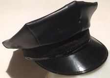 POLICE HAT, BRAND: MIDWAY CAP, 8 POINT SERVICE, VINYL, COLOR: NAVY