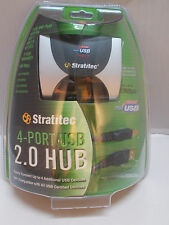 Stratitec 4 Port 2.0 Hub Plug n Play Device NEW USB24W