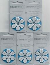 Powerone P675  P 675 Hearing Aid Battery Wholesale lot 6 X 5 Pack Free Shipping
