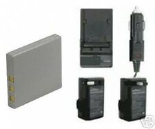 Battery + Charger for Fuji FujiFilm V10 Z1 Z2 Z3 Z5fd Z5 FD F5 FD