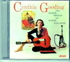 (EI542) Cynthia Gooding, Spanish, Mexican And Turkish Folk Songs - 2005