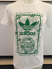 ADIDAS STAN SMITH REPEAT WHITE GRAPHIC TEE T SHIRT MENS SIZE LARGE NWT