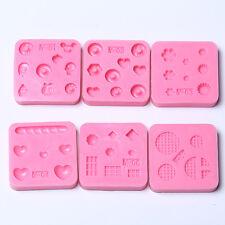 DIY Nail Art Tips 3D GEL Acrylic Powder Silicone Mould Set Nail Design Beauty