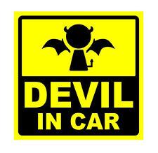 Devil baby in car on board vinyl sticker decal bumper funny joke car silly