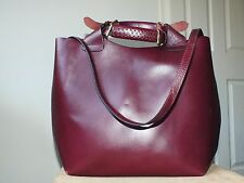 ZARA large genuine leather bucket bag/handbag/shoulder bag tote