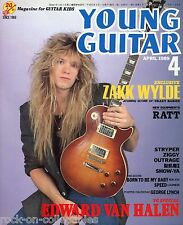 Young Guitar Magazine April 1989 Japan Zakk Wylde Ratt Stryper Van Halen