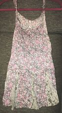 FREE PEOPLE Beautiful Lace Floral Flower Tank Top Size Large