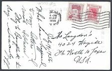 HONK KONG JAPAN 1956 MIXED FRANKING COVER WITH QUEEN ISSUE 25¢ & JAPAN TIED HONG