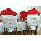 2 x Santa Dining Chair Covers Father Christmas Decorations Xmas Festive Party