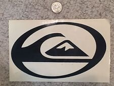 Quiksilver Die Cut Team Sticker Surf Skate Snow - BLACK - Authentic - AWESOME