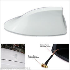 White Shark Fin Shape Car Exterior FM/AM Antenna Aerial Radio Replacement Signal