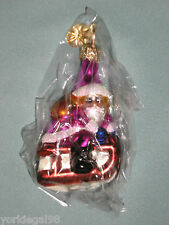 Radko Little Gem Slip N Slide Santa Christmas Ornament New Without Tag No Box
