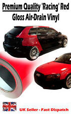 1520mm x 300mm Air Drain 'Racing' Red Gloss Vinyl Film - Car Wrap Sticker