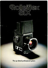 Rollei SLX Camera, Lens & Accessory Sales Brochure. More Rolleiflex Books Listed